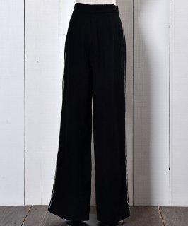 古着Straight Silhouette Side Line Pants Black ストレートシルエットサイドラインパンツ ブラック 古着のネット通販 古着屋グレープフルーツムーン