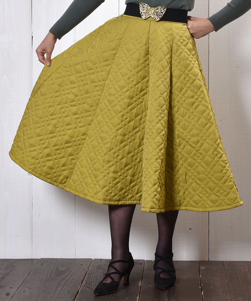 "【3 Color Available】 ""Meridian"" Circular Quilting Skirt