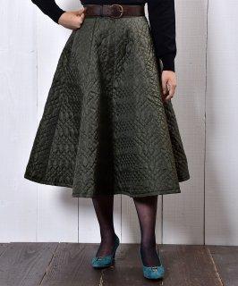 古着【2 Color Available】 Circular Nylon Quilting Skirt|サーキュラー ナイロン素材 キルティングスカート オリーブグリーン 古着のネット通販 古着屋グレープフルーツムーン
