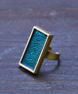 古着ヨーロッパ製 スクエアストーン ゴールドカラーリング|Made in Europe Gold Color Ring Square Stone 古着のネット通販 古着屋グレープフルーツムーン