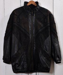 古着Stand Collar Leather Jacket Blouson type| スタンドカラー レザー ジャケット ブルゾン型 ハーフ丈  古着のネット通販 古着屋グレープフルーツムーン