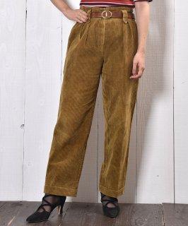 古着フランス製 太畝コーデュロイ 2タック テーパードパンツ Made in France Corduroy Pants 古着のネット通販 古着屋グレープフルーツムーン