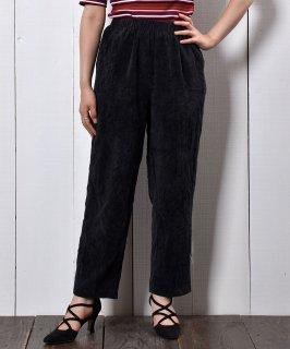 古着細畝コーデュロイ テーパードデザイン イージーパンツ  Corduroy Easy Pants Tapered Type Black 古着のネット通販 古着屋グレープフルーツムーン