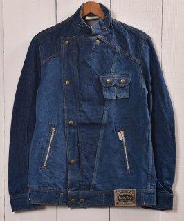 古着ポルトガル製デニムライダースジャケット|Made in Portugal Denim Jacket Riders Design 古着のネット通販 古着屋グレープフルーツムーン
