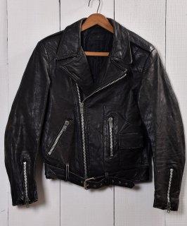古着ダブル ライダース ジャケット|Motorcycle Leather Jacket|ブラック  古着のネット通販 古着屋グレープフルーツムーン