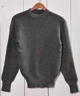 古着ミリタリー クルーネックセーター  グレー | Miritary Crew Neck Sweater Gray 古着のネット通販 古着屋グレープフルーツムーン