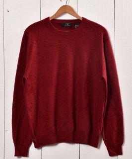 古着カシミヤ クルーネックセーター  ワインレッド| Cashmere Crew Neck Sweater Winered 古着のネット通販 古着屋グレープフルーツムーン