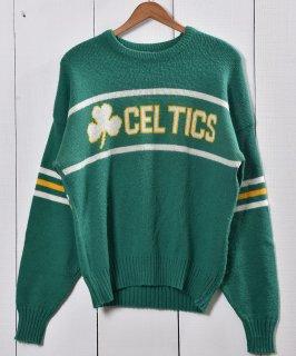 古着クローバーモチーフ チームセータ— グリーン | CroverMotif  knit Sweater Green 古着のネット通販 古着屋グレープフルーツムーン