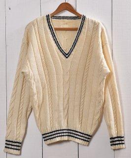 古着チルデン Vネック セーター アイボリー | Children VNeck Sweater Ivory 古着のネット通販 古着屋グレープフルーツムーン