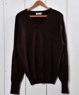 古着カシミア Vネック セータ— ブラウン | Cashmere VNeck Sweater Brown 古着のネット通販 古着屋グレープフルーツムーン