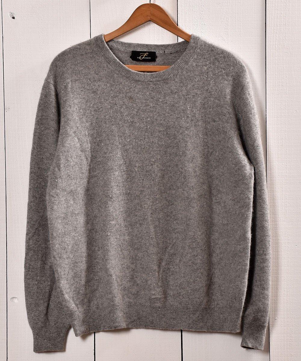 古着 カシミア クルーネック セータ— グレー | Cashmere Crew Neck Sweater Gray 古着 ネット 通販 古着屋グレープフルーツムーン