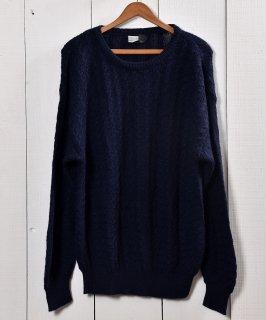 古着ペルー製 アルパカ ケーブルセータ— ネイビー アラン編み| Made in Peru Alpaca Cable Sweater Navy 古着のネット通販 古着屋グレープフルーツムーン