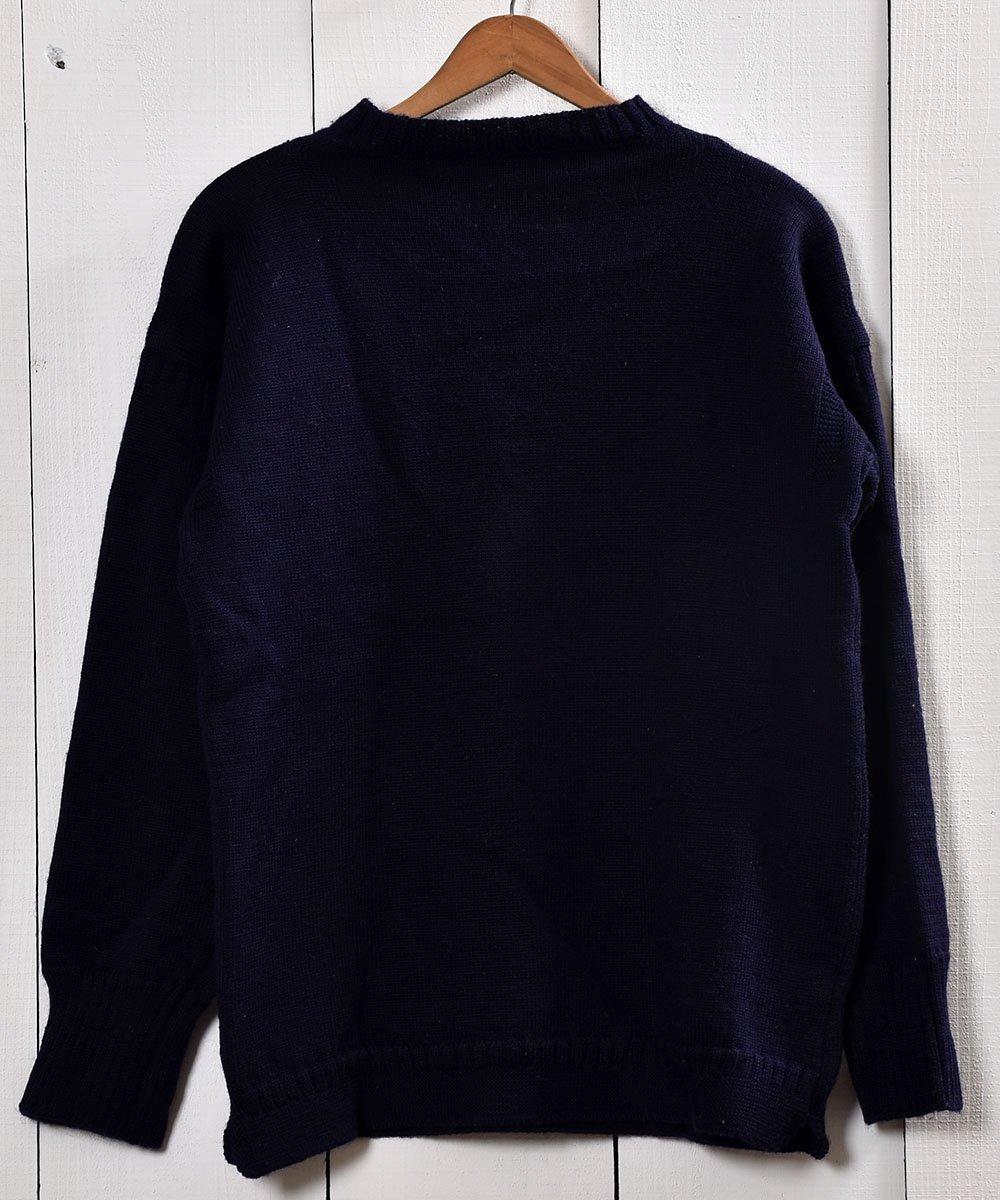 古着 英国製ガーンジーセーター ピュアウール100%|Guernsey Garment Knit  古着 ネット 通販 古着屋グレープフルーツムーン