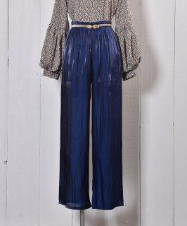 """古着""""Meridian"""" シアー ロングパンツ ブルー Long Pants Sheer Blue 古着のネット通販 古着屋グレープフルーツムーン"""