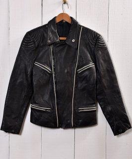 古着パデッド ライダースジャケット ブラック|Black Padded Motorcycle Jacket   古着のネット通販 古着屋グレープフルーツムーン
