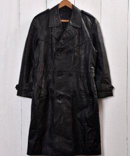 古着ブラック レザー ロングコート |Black Leather Long Coat   古着のネット通販 古着屋グレープフルーツムーン