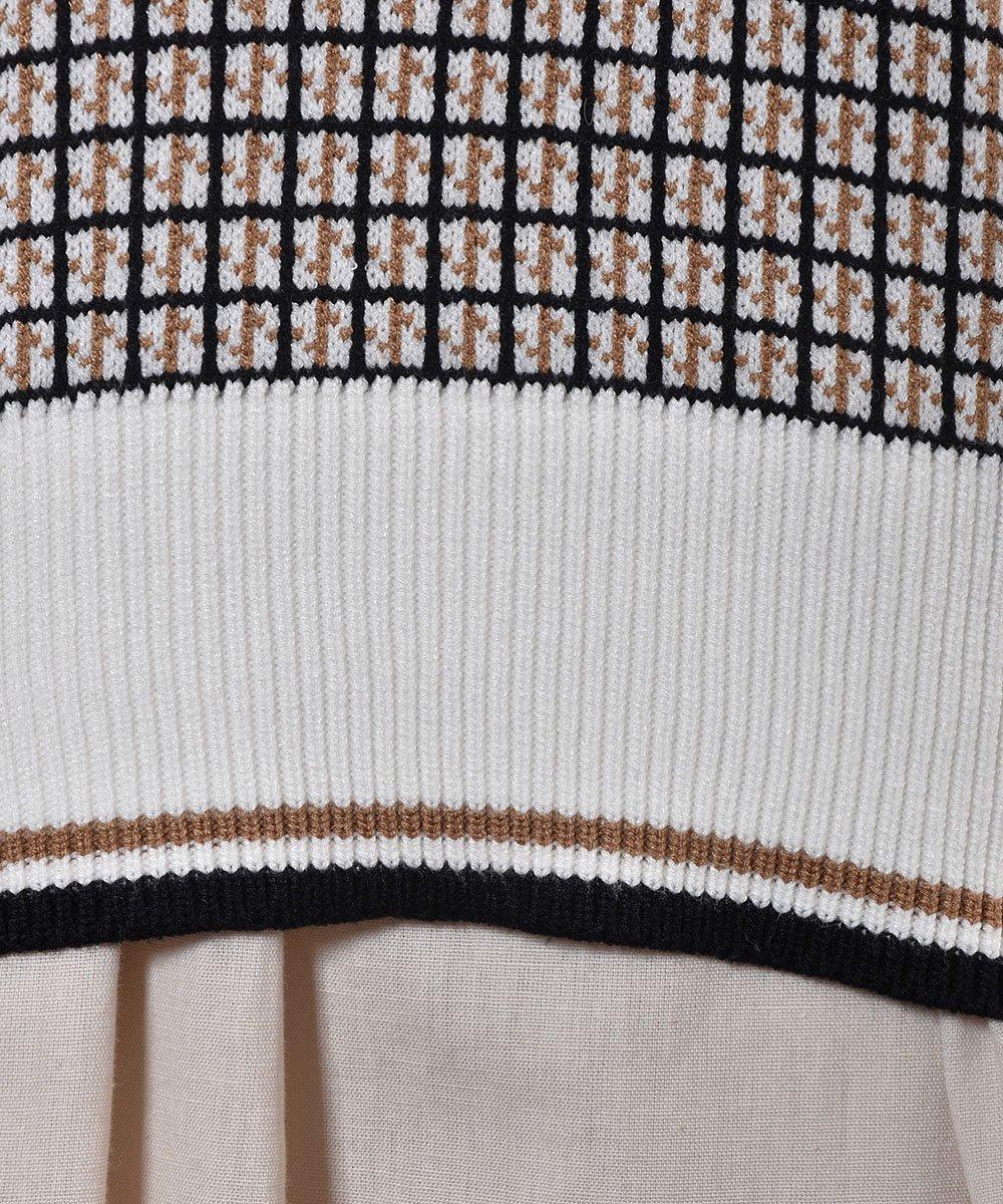 """Elcamino"" ニットベスト チェック ブラック|Knit Vest Check Blackサムネイル"