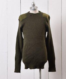 古着イギリス製コマンダーセーター カーキグリーン|Made in England Commander Knit  古着のネット通販 古着屋グレープフルーツムーン