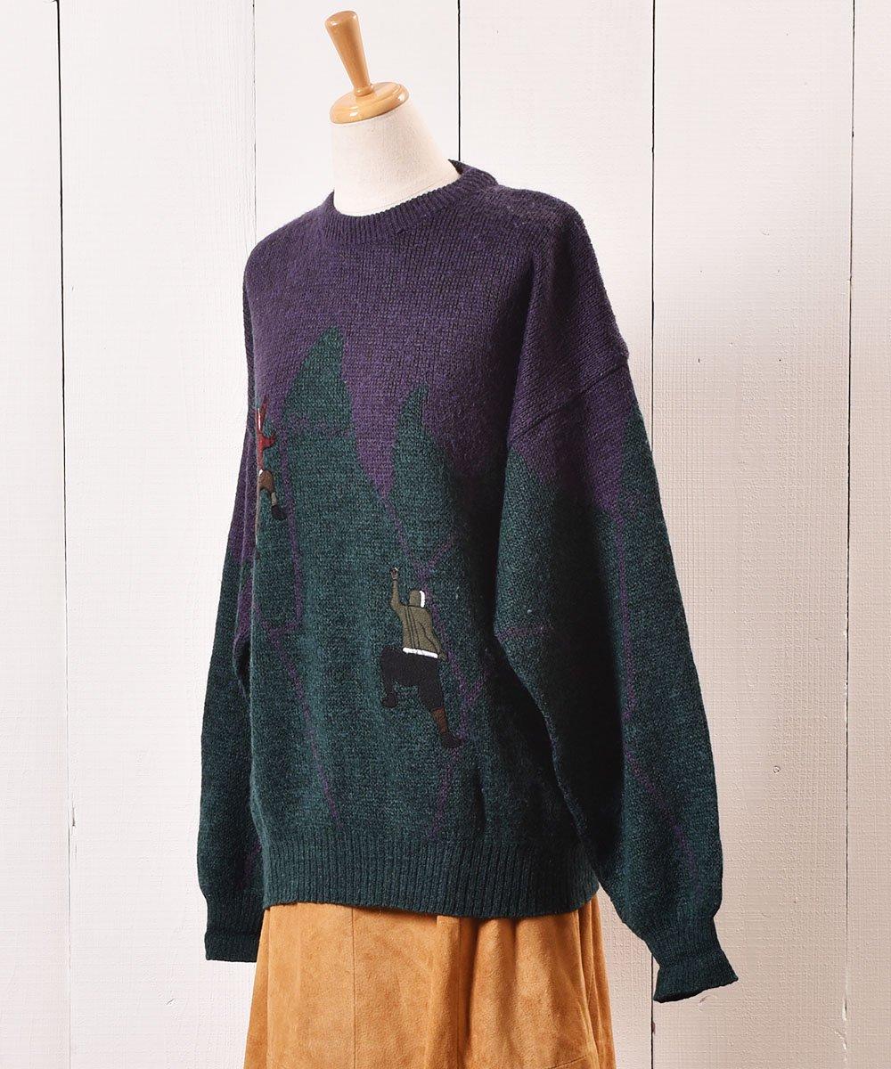 """ヨーロッパ製 クライミング パッチ セーター """"Made in Europe"""" Climbing Patch Sweaterサムネイル"""