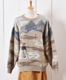 古着ゴルフ パッチ セーター ベージュ|Play Golf Patch Sweater Beige 古着のネット通販 古着屋グレープフルーツムーン