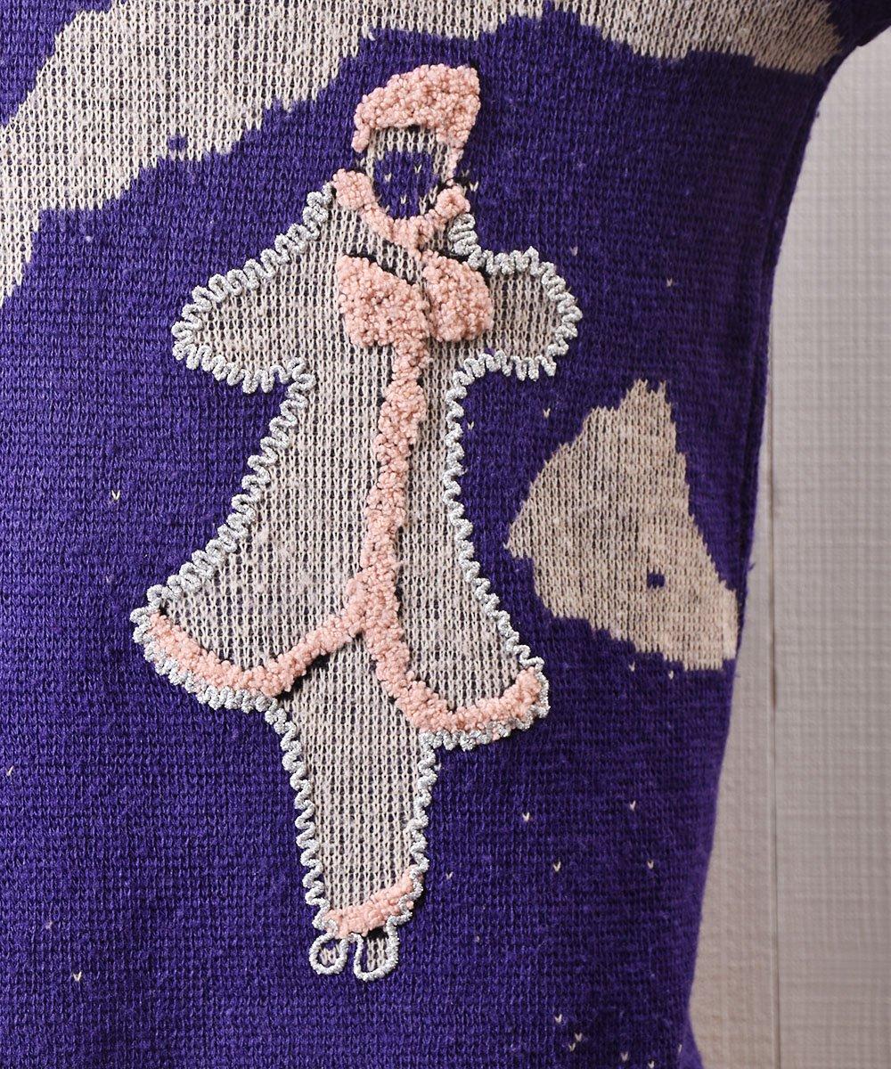 メルヘンガール ラメ パッチ セーター Fairytale Girl Lame Patch Sweaterサムネイル