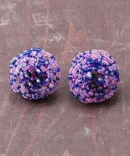 古着花型 ビーズイヤリング | Flower Beads Earrings 古着のネット通販 古着屋グレープフルーツムーン