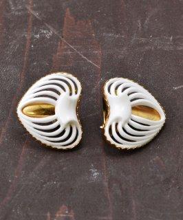 古着ハート型 カットワークイヤリング | Cutwork Earrings Heart 古着のネット通販 古着屋グレープフルーツムーン