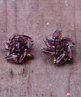 古着60年代 幾何学型 ビーズイヤリング |60's Abstract Design Beads Earrings  古着のネット通販 古着屋グレープフルーツムーン