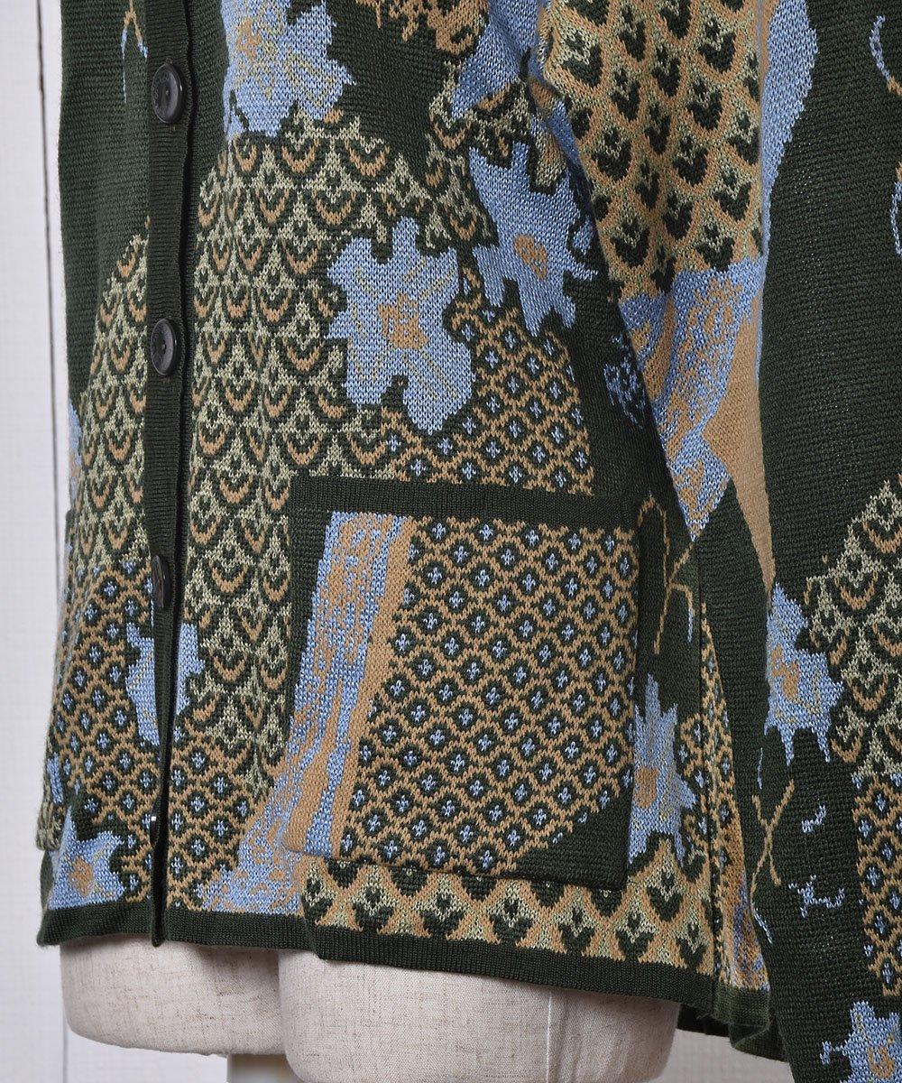 総柄 ニット カーディガン |Knit Cardigan Abstract Patternサムネイル