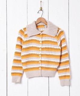 古着マルチボーダー ニット カーディガン |  Knit Cardigan Mulch Border 古着のネット通販 古着屋グレープフルーツムーン