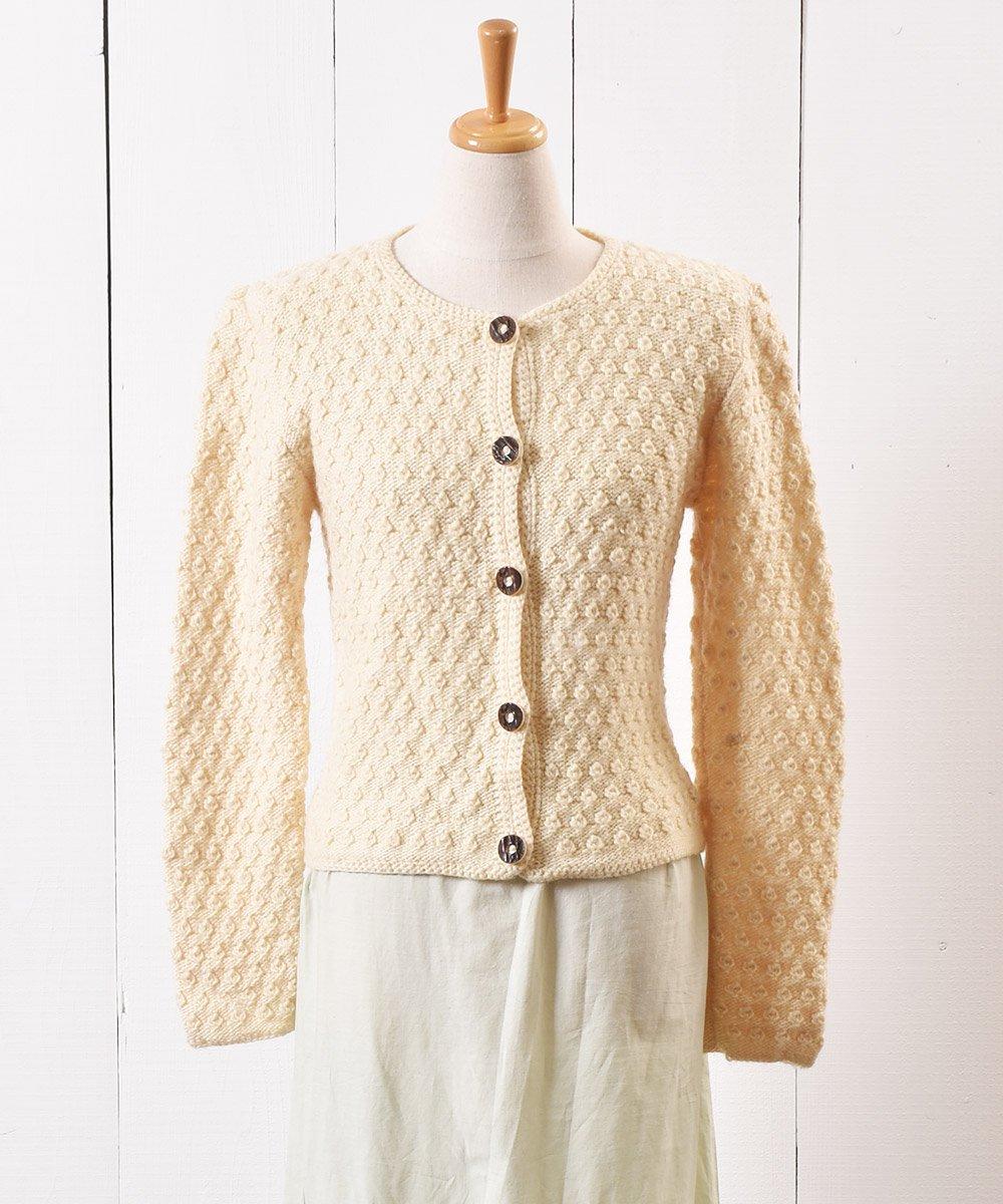 古着 チロリアン ニット カーディガン 木目ボタン| Tyrol Knit Cardigan Imitation Wood Button 古着 ネット 通販 古着屋グレープフルーツムーン