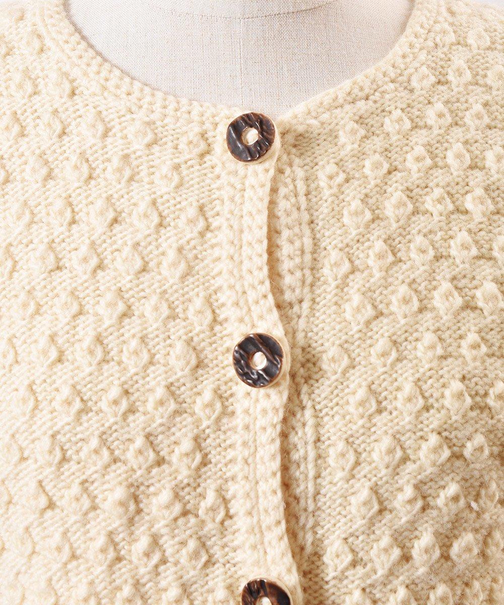 チロリアン ニット カーディガン 木目ボタン| Tyrol Knit Cardigan Imitation Wood Buttonサムネイル