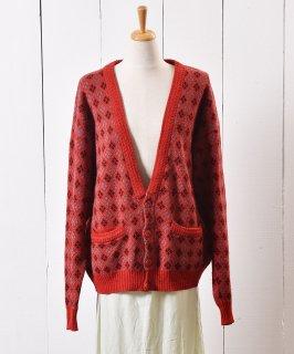 古着イタリア製 アーガイル柄 ニット カーディガン |Made in Italy Knit Cardigan Argyle 古着のネット通販 古着屋グレープフルーツムーン