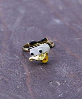 古着ヨーロッパ製 ドナルドダック ゴールドカラーリング |Made in Europe Gold Color Ring Donald Duck  古着のネット通販 古着屋グレープフルーツムーン