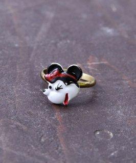 古着ヨーロッパ製 ミニーマウス ゴールドカラーリング |Made in Europe Gold Color Ring Minnie Mouse 古着のネット通販 古着屋グレープフルーツムーン