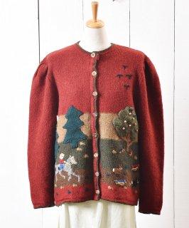 古着ヨーロッパ製 デザインニット カーディガン |Design Knit Cardigan 古着のネット通販 古着屋グレープフルーツムーン