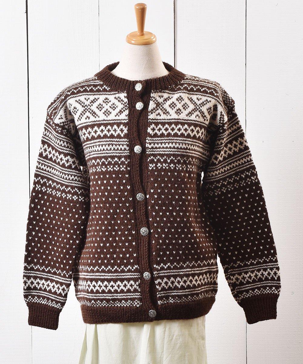 古着 70〜80年代 ノルディック柄 カーディガン |70〜80s Nordic Pattern Cardigan  古着 ネット 通販 古着屋グレープフルーツムーン
