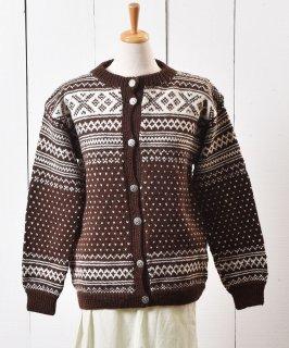 古着70〜80年代 ノルディック柄 カーディガン |70〜80s Nordic Pattern Cardigan  古着のネット通販 古着屋グレープフルーツムーン