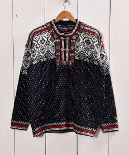 古着ノルウェー製 ノルディック柄 セーター |Made in Norway Nordic Sweater Navy 古着のネット通販 古着屋グレープフルーツムーン