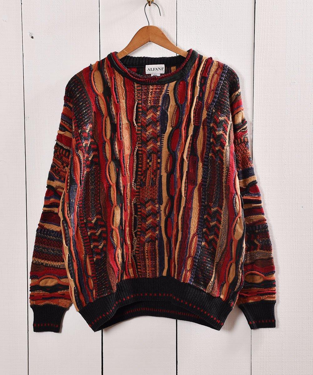 古着 ヨーロッパ製クージー風 3Dニット セーター  Made in Bulgaria 3D Knit 古着 ネット 通販 古着屋グレープフルーツムーン