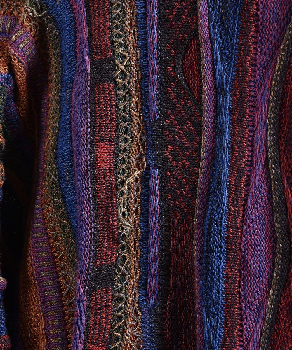 クージー風 3Dニット コットン素材 Vネックセーター  |V neck Cotton 3D Knitサムネイル