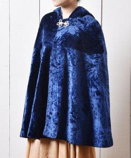 古着 ベロア フーディー ケープ Hoodie  Cape Velvet 古着のネット通販 古着屋グレープフルーツムーン