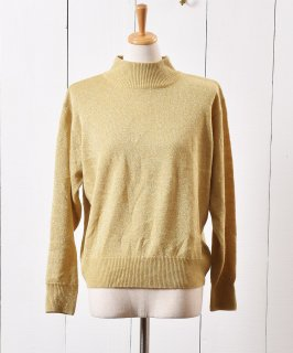 古着ゴールドラメ  タートルネック セーター Gold Lame Turtle Neck Knit Sweater  古着のネット通販 古着屋グレープフルーツムーン