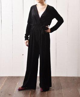 古着ベロア ストライプ オールインワン All-in-One Velvet Stripe   古着のネット通販 古着屋グレープフルーツムーン