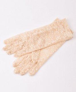 古着【2色展開】レース グローブ 花柄 ベージュ Lace Glove Flower Beige 古着のネット通販 古着屋グレープフルーツムーン
