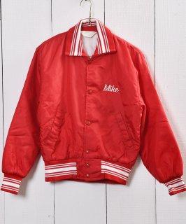 古着ナイロン スタジアム ジャンパー レッド|Nylon Stadium Jacket Red 古着のネット通販 古着屋グレープフルーツムーン