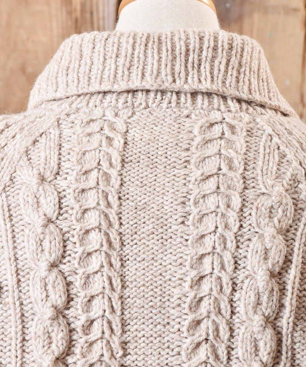 フィッシャーマン  ニット カーディガン シェルボタン|Fisherman Knit Cardigan Shell Button サムネイル