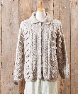 古着フィッシャーマン  ニット カーディガン シェルボタン|Fisherman Knit Cardigan Shell Button  古着のネット通販 古着屋グレープフルーツムーン