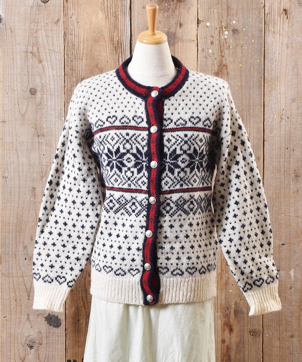 古着 ノルディック ニット カーディガン メタルボタン|Nordic Knit Cardigan Metal Button  古着 ネット 通販 古着屋グレープフルーツムーン