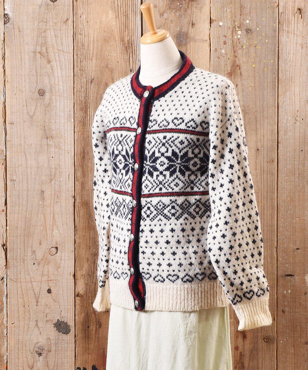 ノルディック ニット カーディガン メタルボタン|Nordic Knit Cardigan Metal Button サムネイル